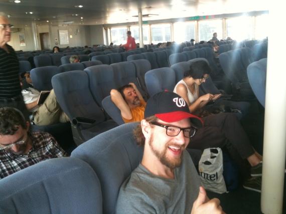 Alex on the Ferry